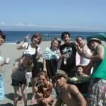 暑い夏とBBQと綺麗な海でした