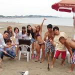海と海水浴とビールとBBQ(楽しい仲間たち)