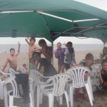 三浦海岸で海水浴とバーベキュー