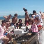 真夏の三浦海岸復活バーベキューと海水浴