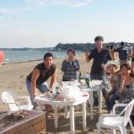 秋の三浦海岸バーベキュー