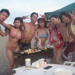 海鮮BBQ 海水浴 =楽しい1日