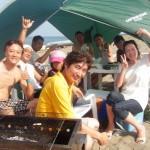三浦海岸海鮮BBQ 手ぶらでBBQと海水浴