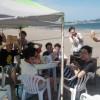真夏の海岸バーベキュー 三浦海岸