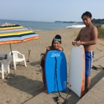 三浦海岸、暑い暑い真夏のビーチBBQ
