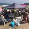 今日も三浦海岸は夏空が全開で海が輝いていました。