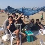 真夏日までもう少し三浦海岸BBQ
