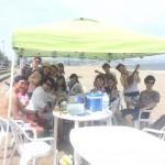 真夏の海でビーチBBQ,ウインドサーフィン,スタンドアップパドル
