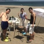週末もいいお天気の中ビーチBBQ,海水浴,マリンスポーツを三浦海岸De
