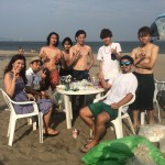 台風一過の三浦海岸BBQ