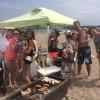 夏休みのビーチbbq