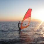 初日の出SUP&ウインドサーフィン