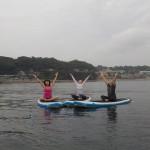 癒す力、三浦の海の上でヨガ、SUPヨガ