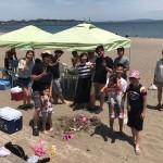 三浦海岸真夏日のビーチBBQが続いています。