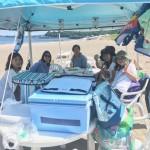 ビーチBBQと海水浴