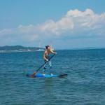 暑い真夏にはSUPで海の上が気持ちいいですよ。