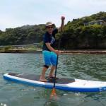 三浦海岸で大流行スタンドアップパドル、SUPに挑戦