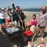 三浦海岸ビーチBBQ笑顔のBBQ