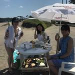 三浦海岸の楽しいビーチBBQ