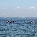 真夏のビーチbbqとシーカヤックに釣り
