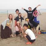 海+BBQ+友達=いいお天気と笑顔いっぱい