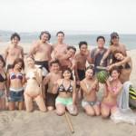 海水浴とバーベキュー 三浦海岸