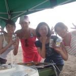 9月になっても三浦海岸BBQと海水浴と海遊びはやってます。