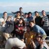 秋の海岸で海鮮BBQ