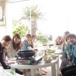 女子会 BBQ イン 三浦海岸