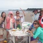 海水浴とバーベキューBBQ三浦海岸