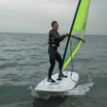12月23日、冬から始めるウインドサーフィン、スクール1日目