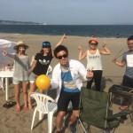 間もなく真夏の気配、三浦海岸BBQ