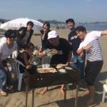 楽しい三浦海岸ビーチBBQと海遊び