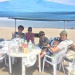 三浦海岸は真夏日のビーチBBQ