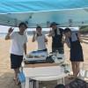 平日のビーチBBQ 三浦海岸