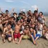 真夏の楽しいビーチBBQ