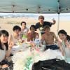 三浦海岸熱い真夏のビーチBBQ