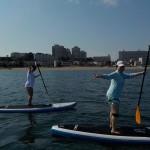 三浦海岸で初めてのsup体験