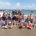 三浦海岸8月14日晴れてました。